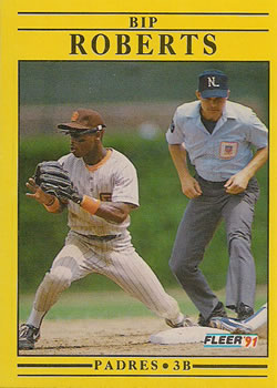 The Perfect Card 1991 Fleer Baseball 540 Bip Roberts