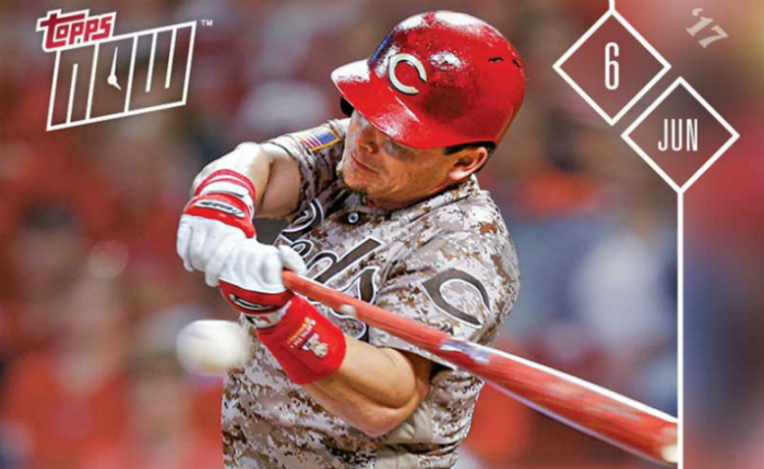 2b57e035c Scooter Gennett, second baseman for the Cincinnati Reds, had quite a night  last night and the Topps company is rolling out the big guns as a part of  their ...